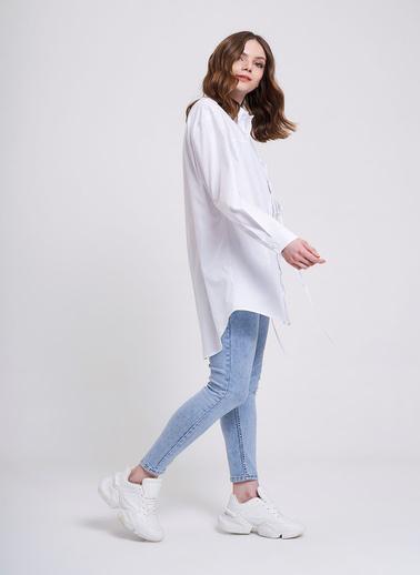 Mizalle Youth Gömlek Beyaz